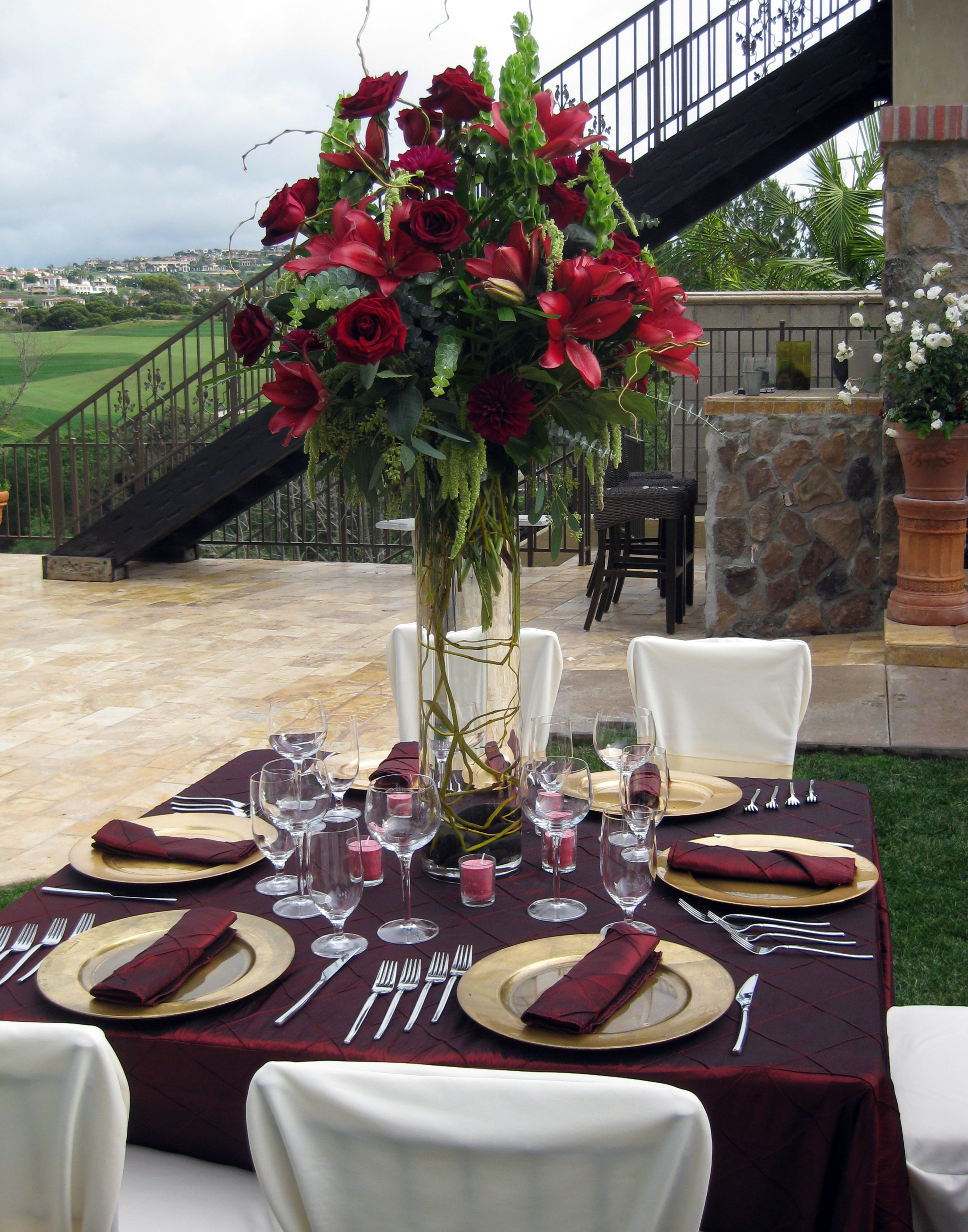 Tall Burgundy Centerpieces : February floral design by jacqueline ahne s