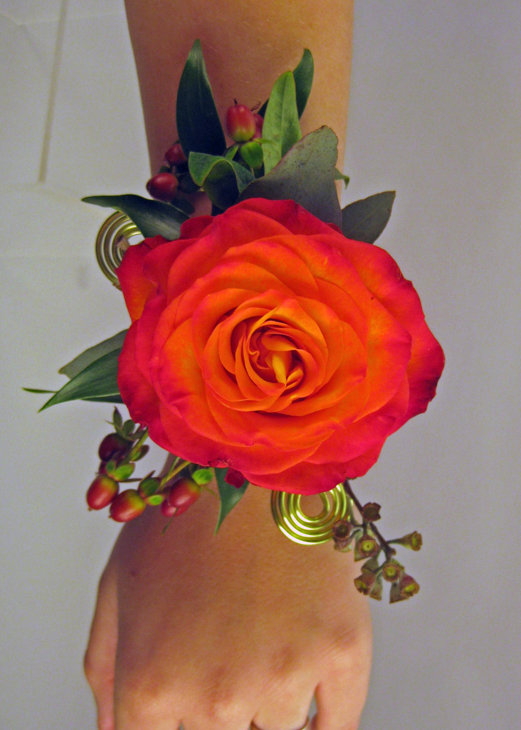 Orange Wrist Corsage Floral Design By Jacqueline Ahnes Blog
