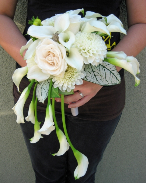 Modern Calla Lily Wedding Floral Design By Jacqueline
