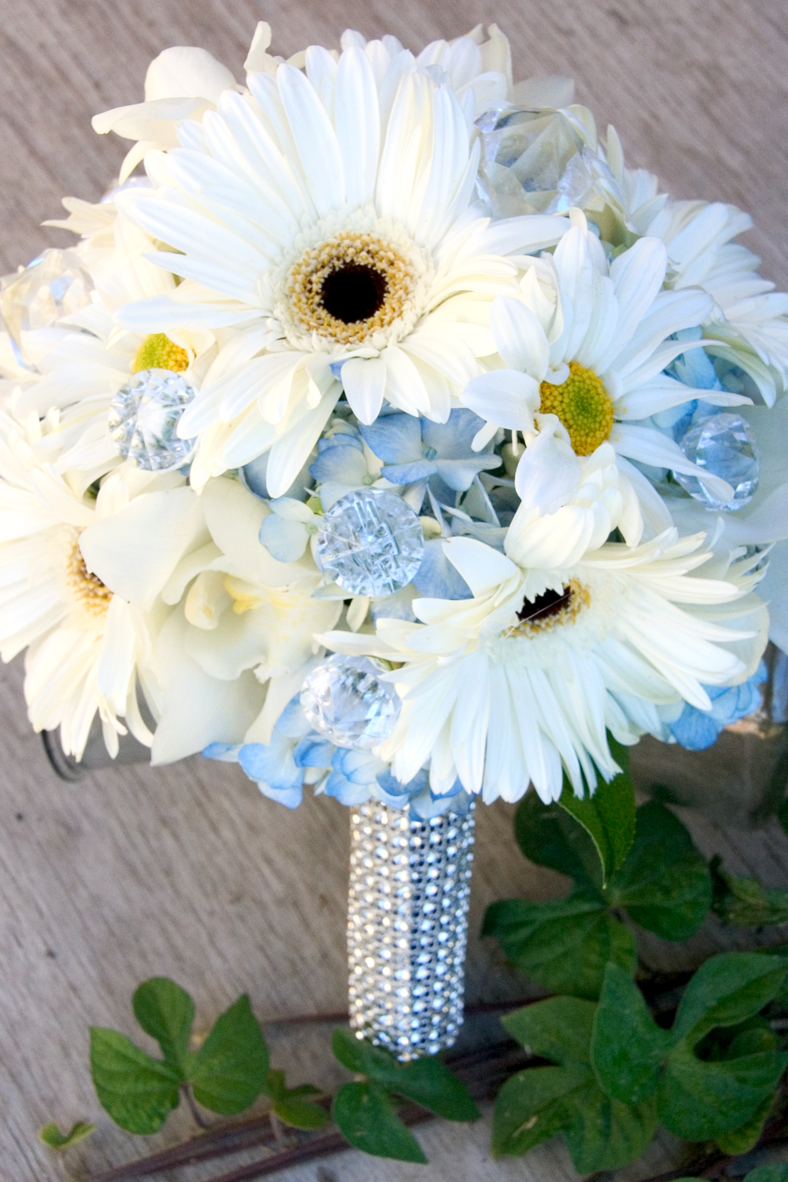 Blue and white wedding flowers floral design by jacqueline the dhlflorist Image collections