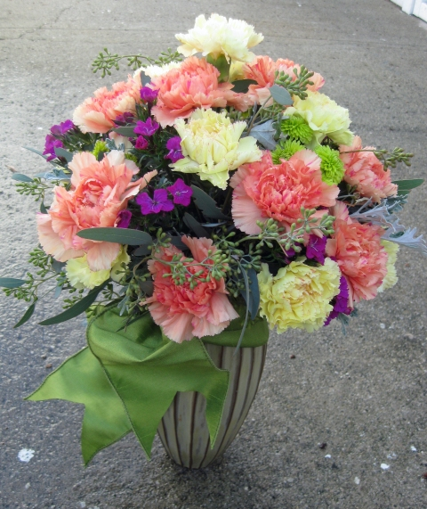 Mix of Carnations, Sweet willam and Accents - Floral Design By Jacqueline Ahne