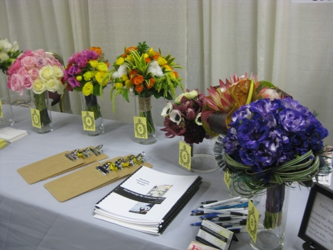 Queen Mary Bridal Show- 1/6/13 Floral Design By Jacqueline Ahne